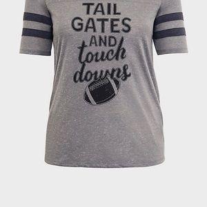 Grey football shirt by Torrid